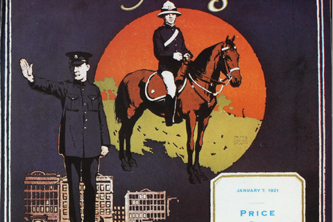 Front cover of the first edition of Police News