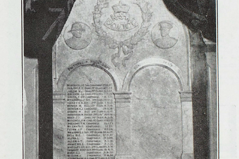 Police Memorial commemorating fallen police at Police Headquarters. Published in the Police News June 1933