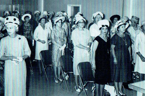 Police Women being sworn in as full constable status circa 1965